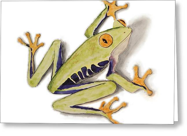 Amphibians Ceramics Greeting Cards - African Tree frog Watercolor Print Greeting Card by Nathan Ryan