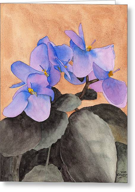 African Violets Greeting Cards - African Violet Greeting Card by Ken Powers