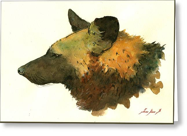 African Wild Dog Greeting Card by Juan  Bosco