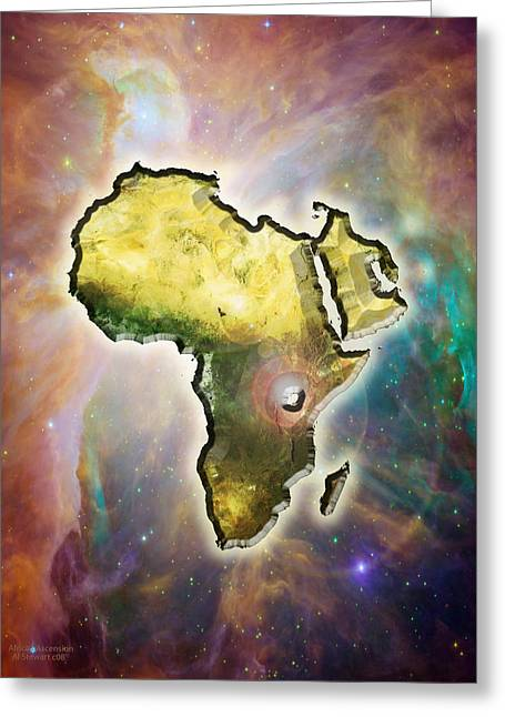 African-american Digital Greeting Cards - Africas Ascension Greeting Card by Albert Stewart