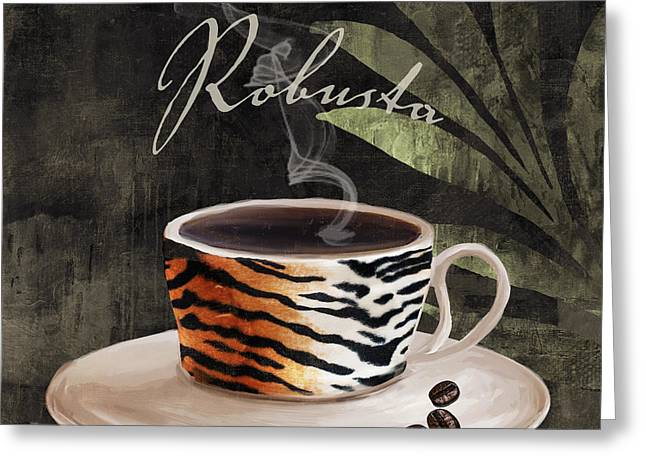 Afrikan Coffees II Greeting Card by Mindy Sommers