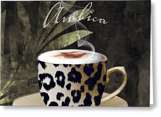 Leopard Skin Greeting Cards - Afrikan Coffees III Greeting Card by Mindy Sommers