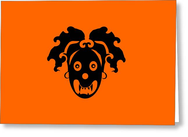 Abstractions Greeting Cards - Afro head demon Greeting Card by Bilal  Zafar
