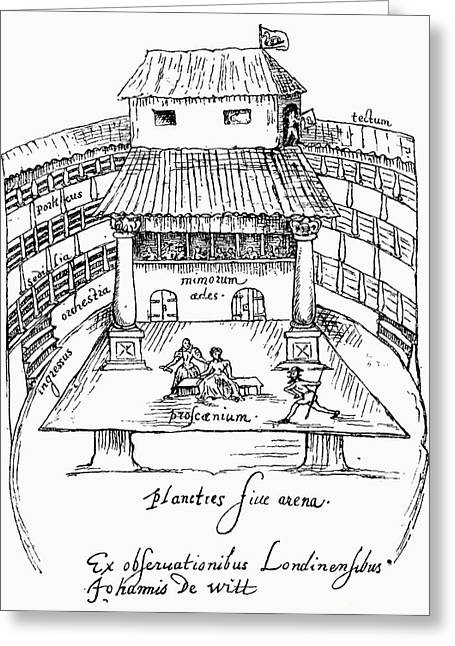 After A 1596 Sketch Of A Performance In Greeting Card by Vintage Design Pics