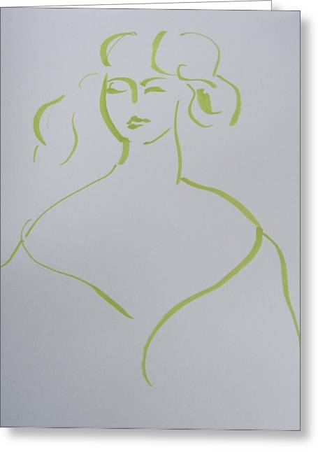 Angelo Asti Portrait Of A Young Woman Revisited Greeting Card by Rob Prince