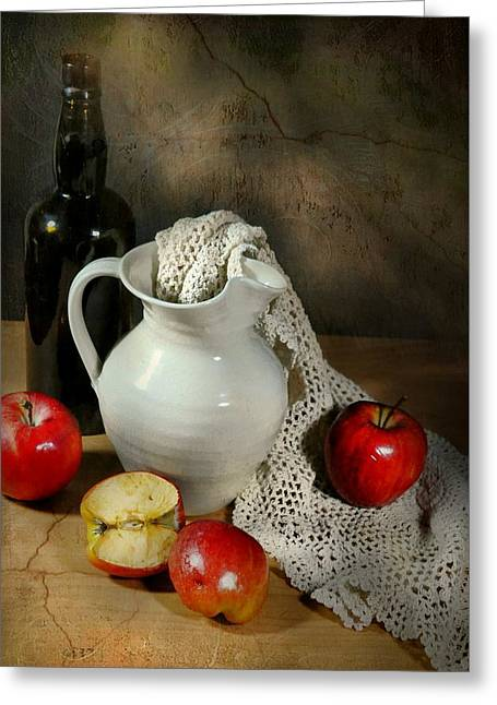 Still Life With Pitcher Greeting Cards - After Five Greeting Card by Diana Angstadt