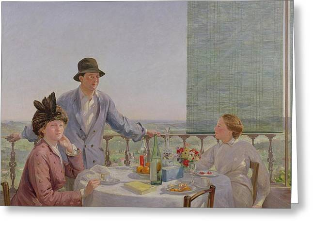 After Lunch Greeting Card by Gerard Chowne