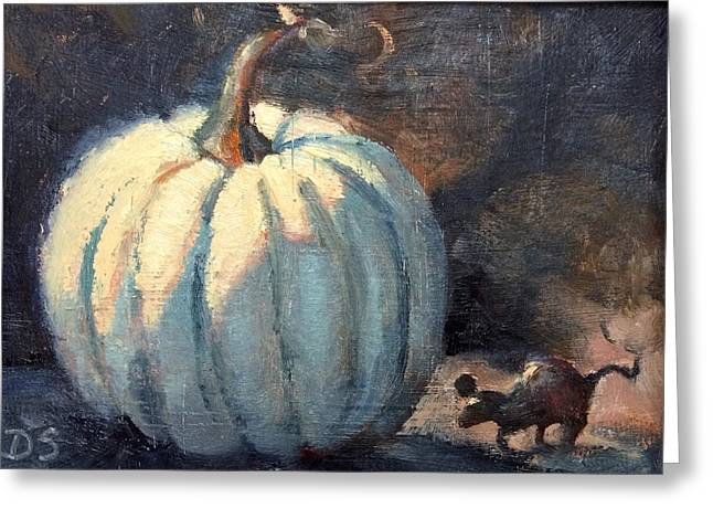 After Midnight Greeting Card by Donna Shortt