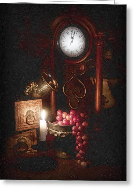 Compote Greeting Cards - After Midnight Greeting Card by Tom Mc Nemar