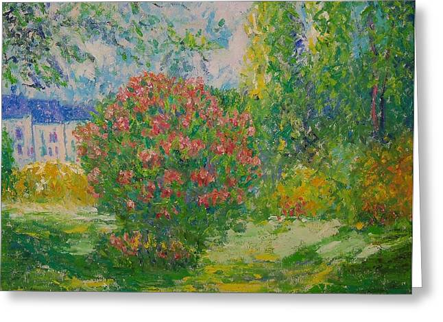 Dappled Light Greeting Cards - After Monet Greeting Card by Lore Rossi