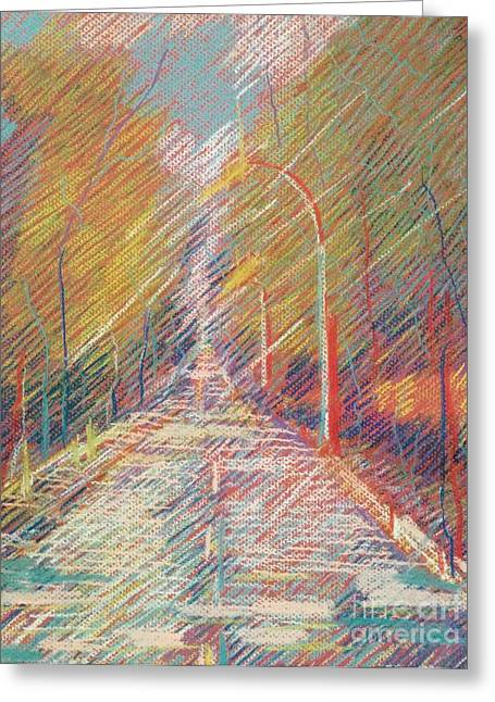 Puddle Pastels Greeting Cards - After rain Greeting Card by Nelya Pinchuk