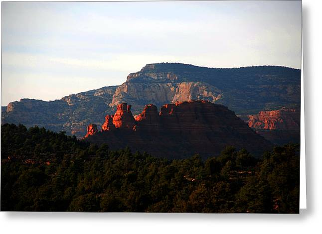 After Sunset In Sedona Greeting Card by Susanne Van Hulst