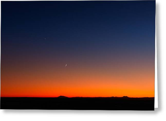 After Sunset Greeting Card by Leland D Howard