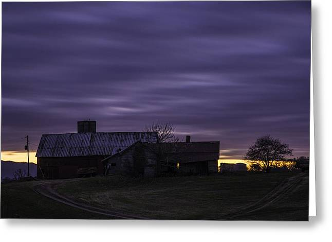 Tennessee Farm Greeting Cards - After Sunset on the Farm Greeting Card by Griffey