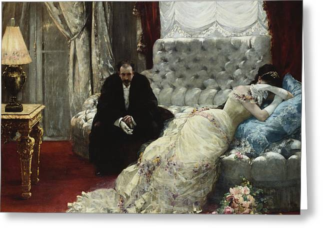 After The Ball Greeting Card by Henri Gervex