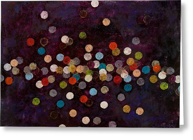 Circle Pastels Greeting Cards - After the Bang III Greeting Card by Jacob Stempky