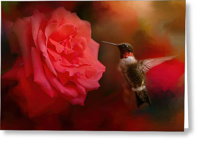Texture Floral Greeting Cards - After The Big Rose Greeting Card by Jai Johnson