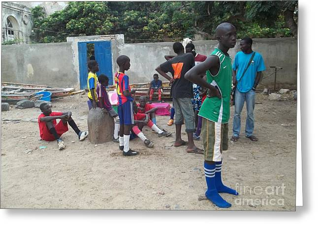 After the Game - Goree Boys Greeting Card by Fania Simon