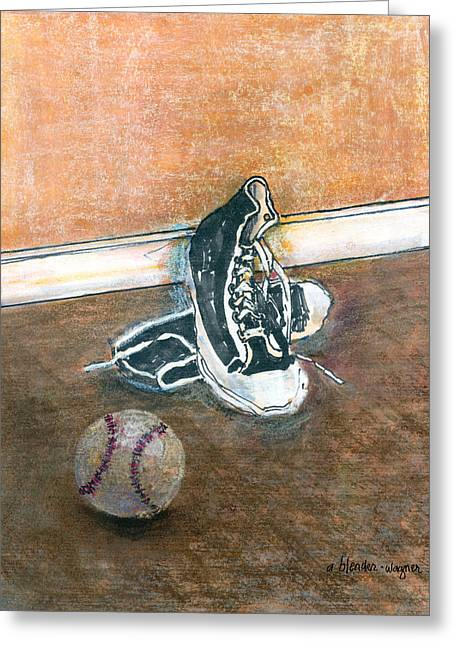 Hightop Greeting Cards - After The Game Greeting Card by Arline Wagner