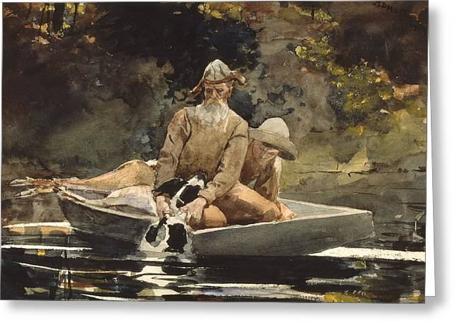 After The Hunt Greeting Card by Winslow Homer