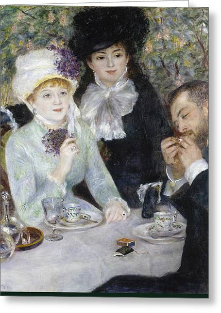 Renoir Greeting Cards - After the Luncheon  Greeting Card by Auguste Renoir