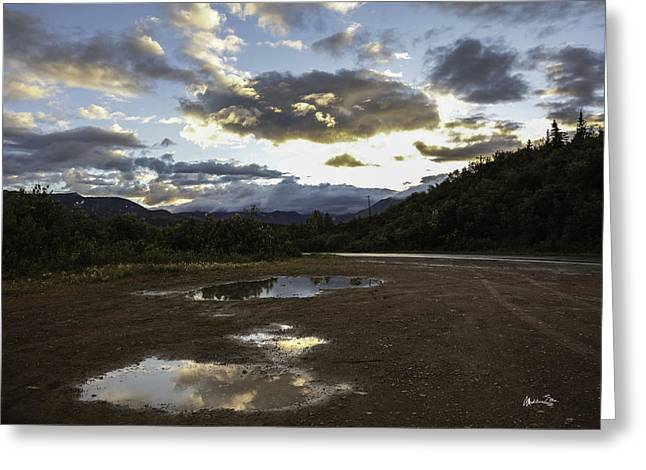 White Photographs Greeting Cards - After the Rain - Alaska Reflection Greeting Card by Madeline Ellis