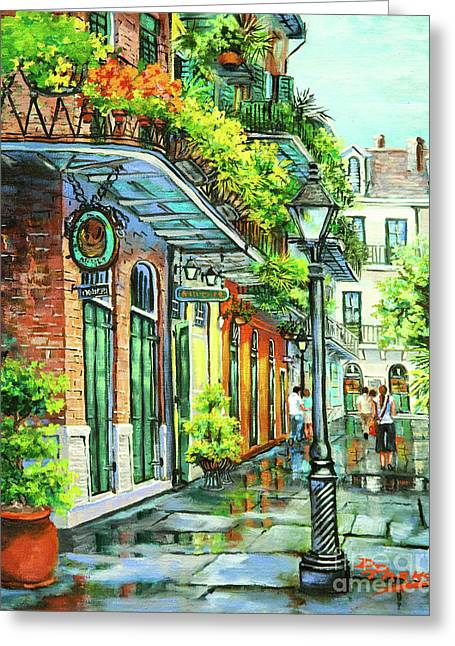 Vieux Carre Greeting Cards - After the Rain Greeting Card by Dianne Parks