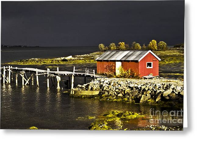Sortland Greeting Cards - After the rain Greeting Card by Heiko Koehrer-Wagner
