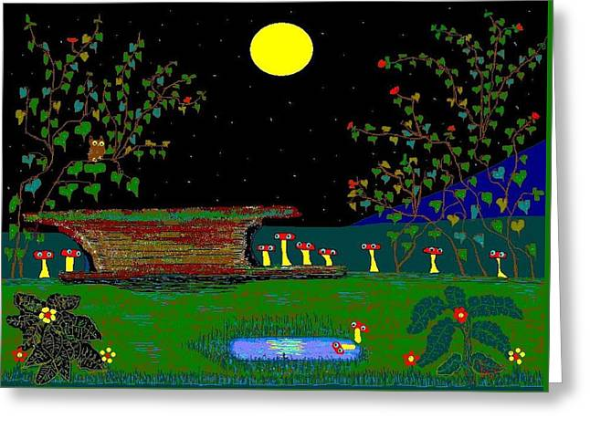 Etc. Paintings Greeting Cards - After The Rain. Greeting Card by Richard Magin