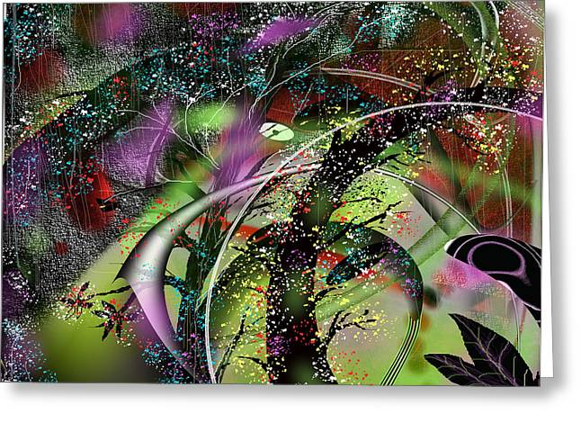 Abstract Rain Greeting Cards - After The Storm 2 Greeting Card by Yul Olaivar