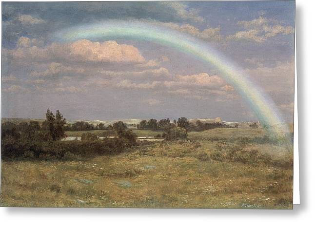 After The Storm Greeting Cards - After the Storm Greeting Card by Albert Bierstadt