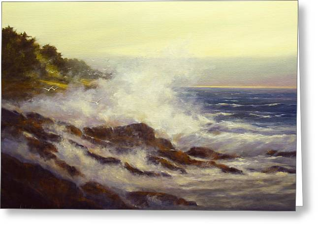 Maine Beach Greeting Cards - After the Storm Greeting Card by Barbara Applegate