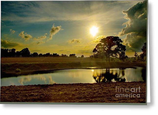 Field. Cloud Tapestries - Textiles Greeting Cards - After the storm Greeting Card by James Hennis