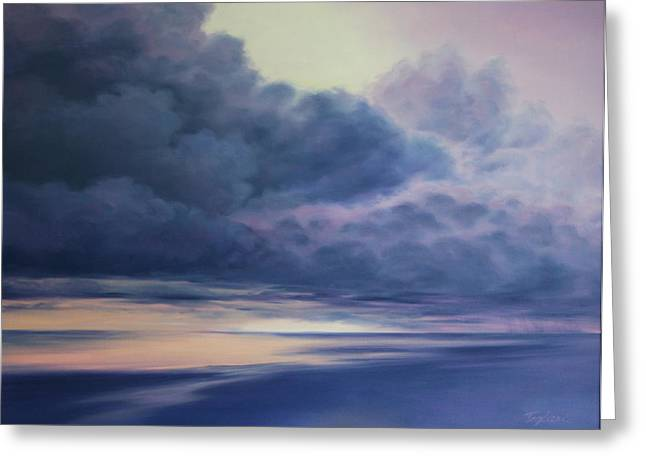 Storm. Rain. Oil On Canvas Greeting Cards - After the Storm Greeting Card by Mary Taglieri