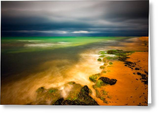Beach Landscape Greeting Cards - After The Storm Greeting Card by Piotr Krol (bax)
