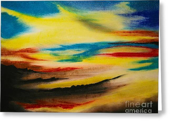 Storm Clouds Pastels Greeting Cards - After The Storm Greeting Card by Terry  Hester