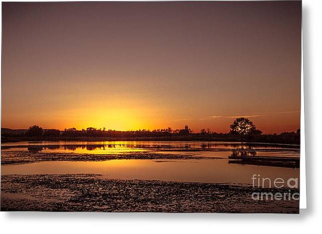 Layer Greeting Cards - After The Sun Set Greeting Card by Robert Bales