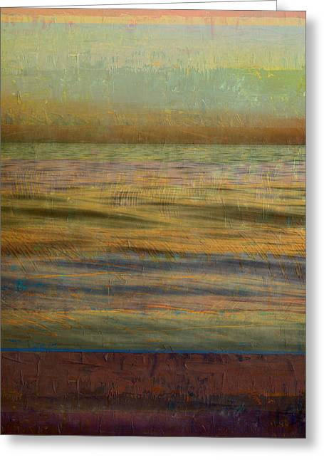 After The Sunset - Teal Sky Greeting Card by Michelle Calkins