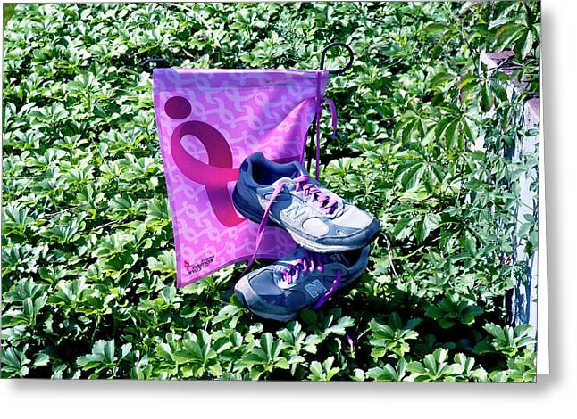 Sneakers Greeting Cards - After The Three Day Walk Greeting Card by Ross Powell