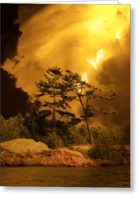Mystic Sky Art Greeting Cards - After Tomorrow  Greeting Card by Cathy  Beharriell
