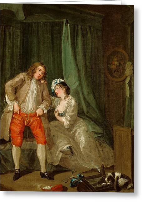 After Greeting Card by William Hogarth