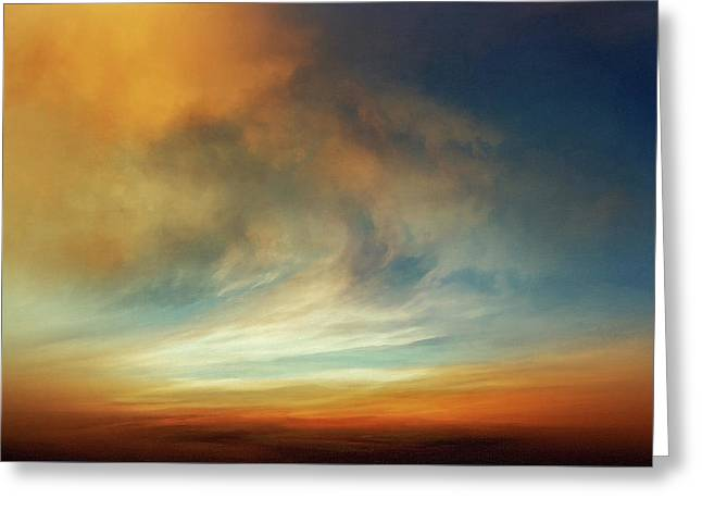Afterglow Greeting Card by Lonnie Christopher
