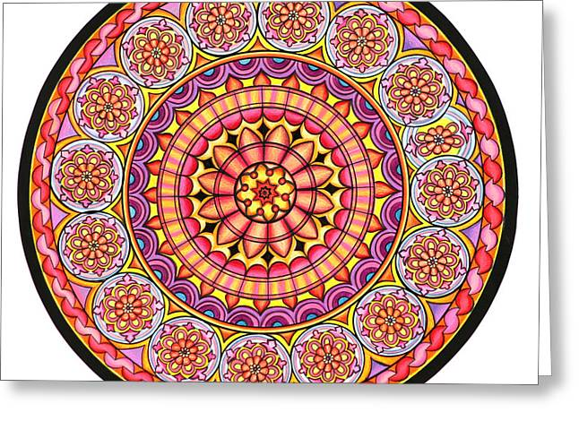 Geometrical Pastels Greeting Cards - Afterglow Greeting Card by Marcia Lupo