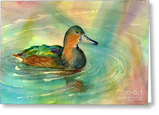 Mallard Paintings Greeting Cards - Afternoon Break Greeting Card by Amy Kirkpatrick