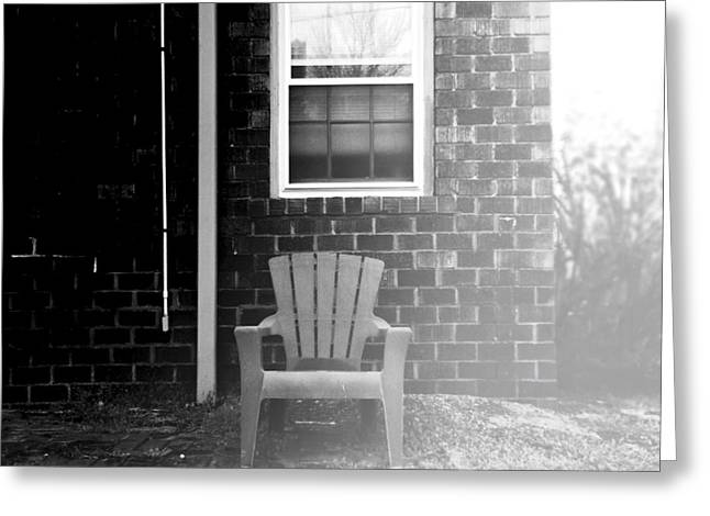 Lawn Chair Greeting Cards - Afternoon Chair Greeting Card by Henry Lohmeyer