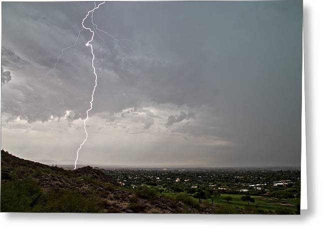 Scottsdale Lightning Photographs Greeting Cards - Afternoon Delight Greeting Card by Cathy Franklin
