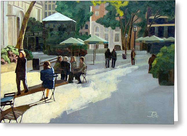 Afternoon in Bryant Park Greeting Card by Tate Hamilton