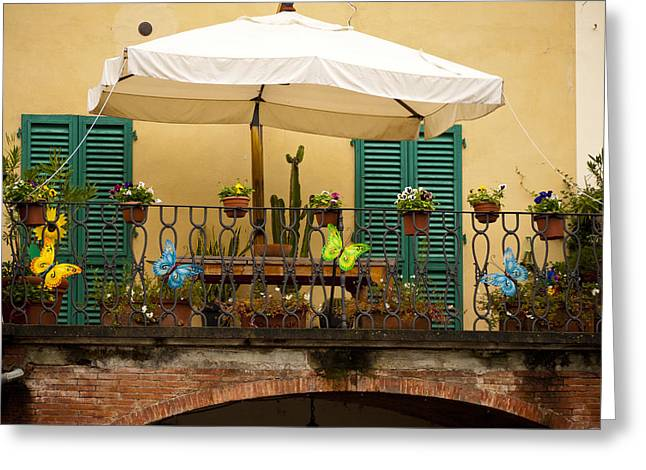 Afternoon In Greve In Chianti Greeting Card by Rae Tucker