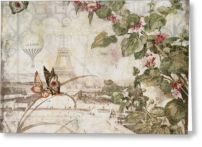 1800s Greeting Cards - Afternoon in Paris Greeting Card by Mindy Sommers