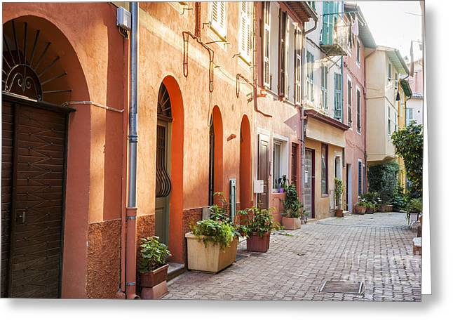 Southern France Greeting Cards - Afternoon in Villefranche-sur-Mer Greeting Card by Elena Elisseeva